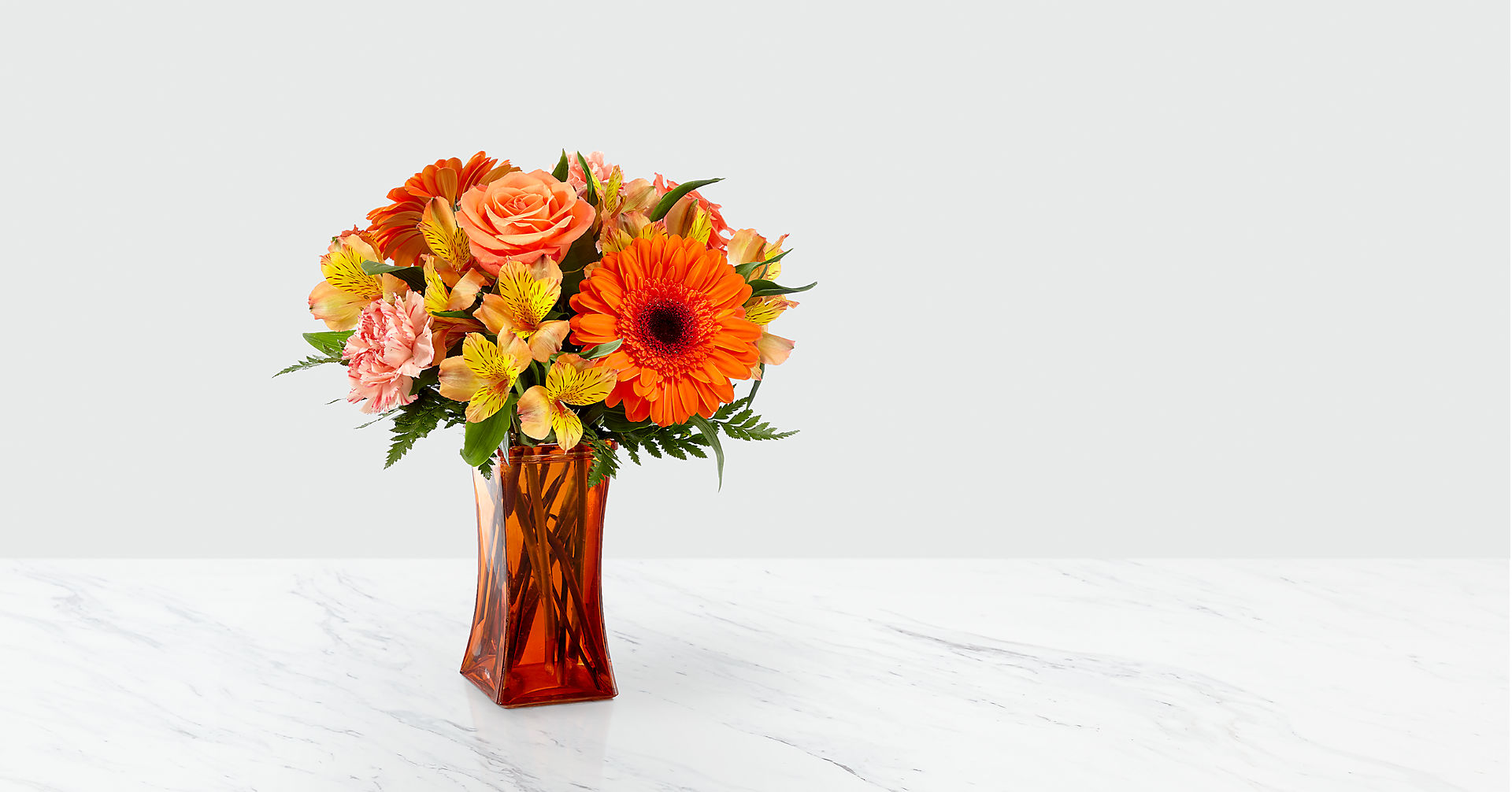 Orange Essence™ Bouquet- VASE INCLUDED - Image 1 Of 2