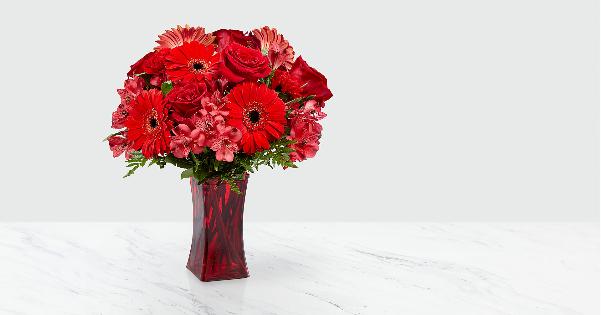 Red Reveal™ Bouquet- VASE INCLUDED - Image 1 Of 3