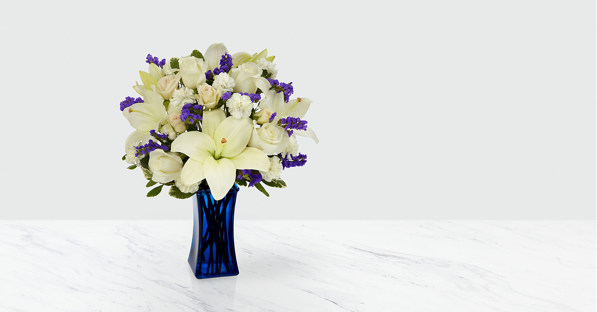 Beyond Blue™ Bouquet - Blue & White - Image 1 Of 6