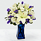 Beyond Blue™ Bouquet - VASE INCLUDED - Thumbnail 1 Of 6