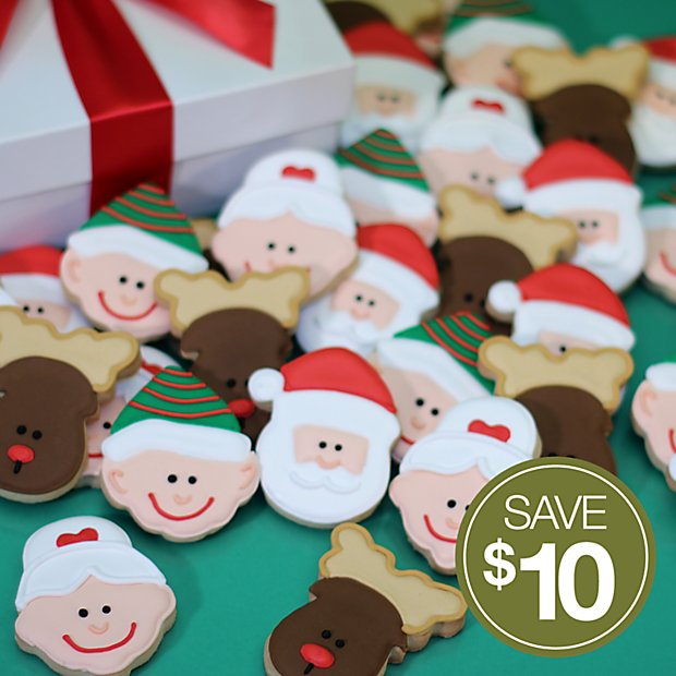 Hand Decorated Christmas Cookies 24 Piece