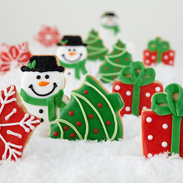 12 Hand Decorated Mini Christmas Cookies