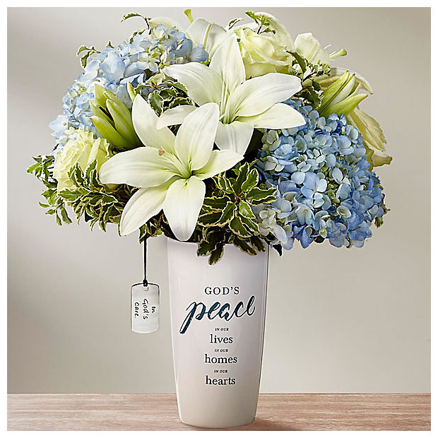 DaySpring® In God's Care™ Bouquet - Blue & White - Image 1 Of 3