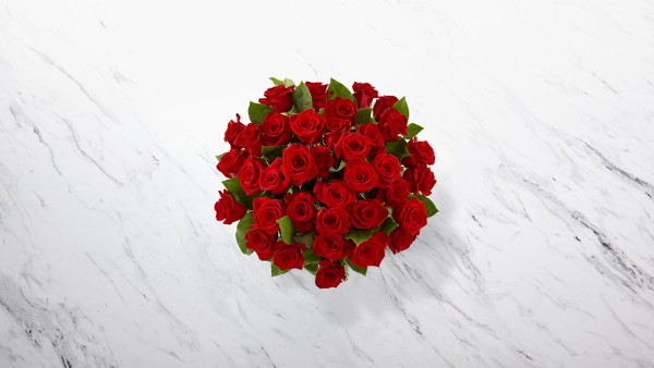 The Long Stem Red Rose Bouquet - 36 Stems - VASE INCLUDED - Image 2 Of 2