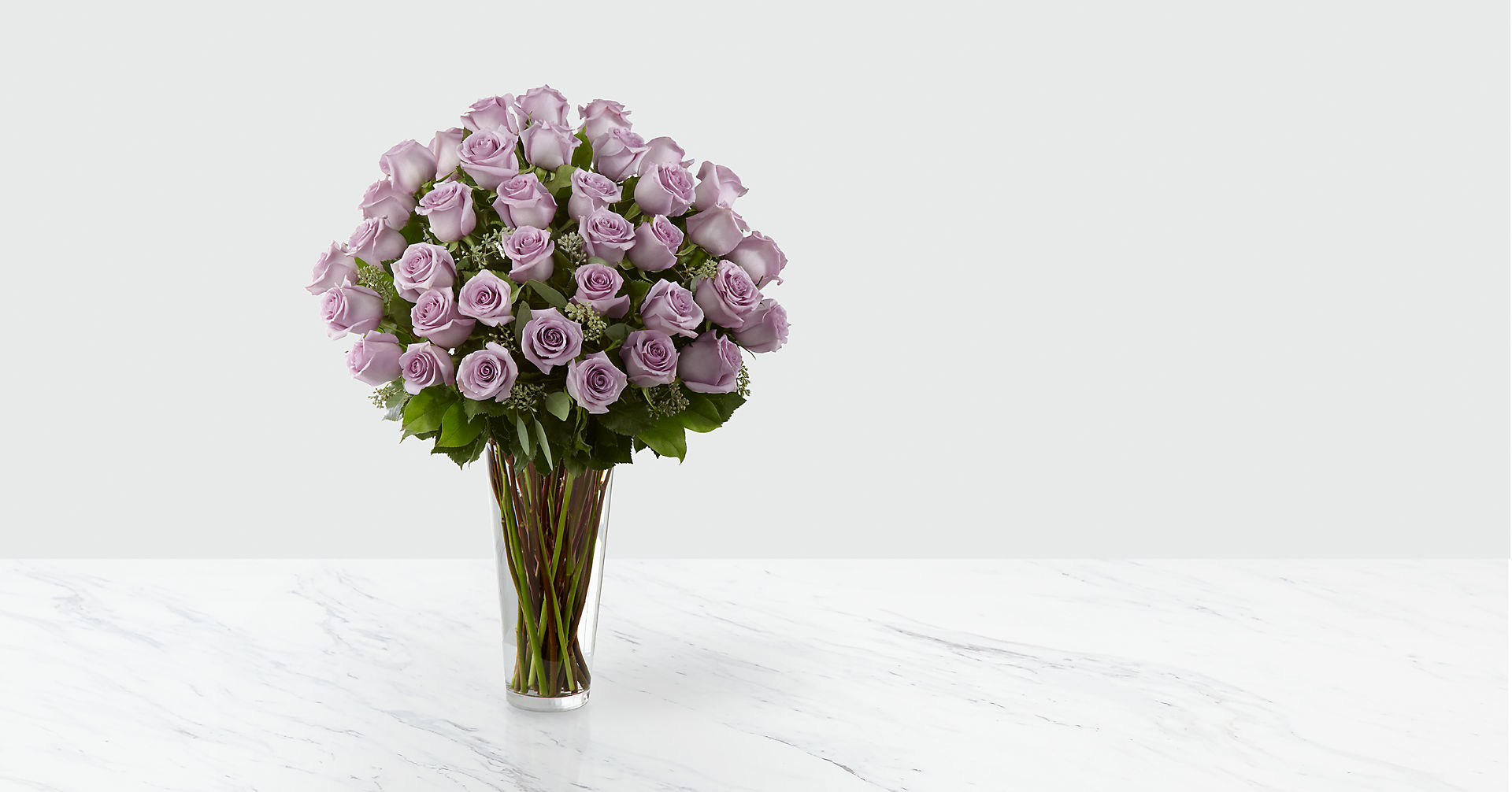 The Lavender Rose Bouquet - 36 Stems - VASE INCLUDED - Image 1 Of 2