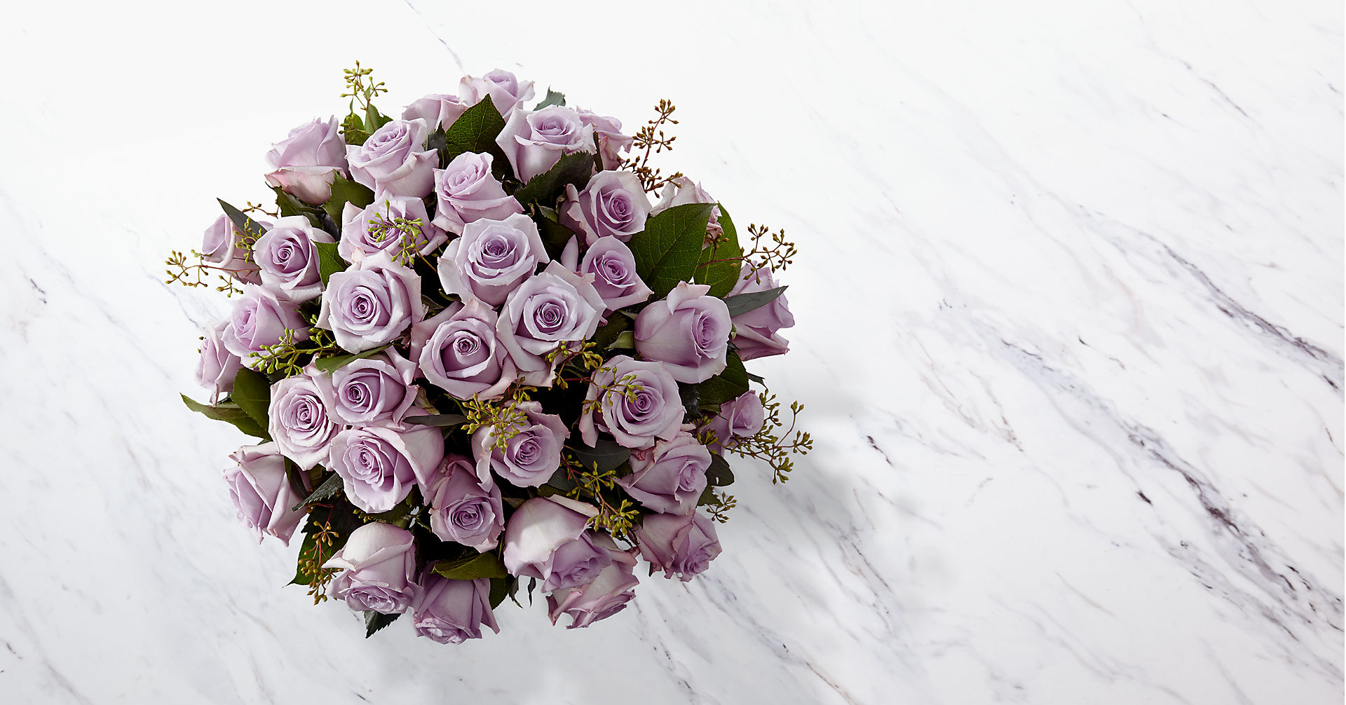 The Lavender Rose Bouquet - 36 Stems - VASE INCLUDED - Image 2 Of 2