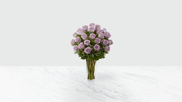 The Lavender Rose Bouquet - VASE INCLUDED - Thumbnail 1 Of 2