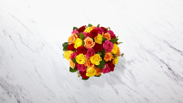 The Bright Spark™ Rose Bouquet - VASE INCLUDED - Thumbnail 2 Of 2