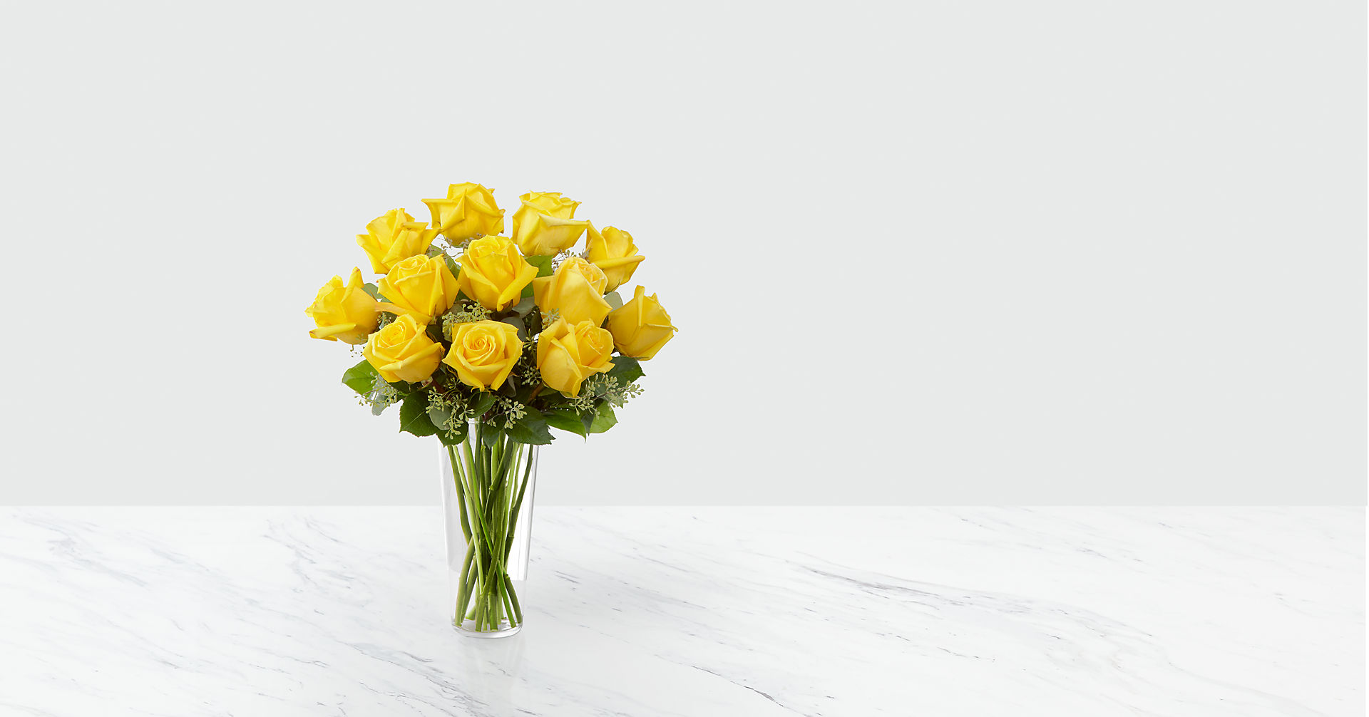 The Yellow Rose Bouquet - VASE INCLUDED - Image 1 Of 2