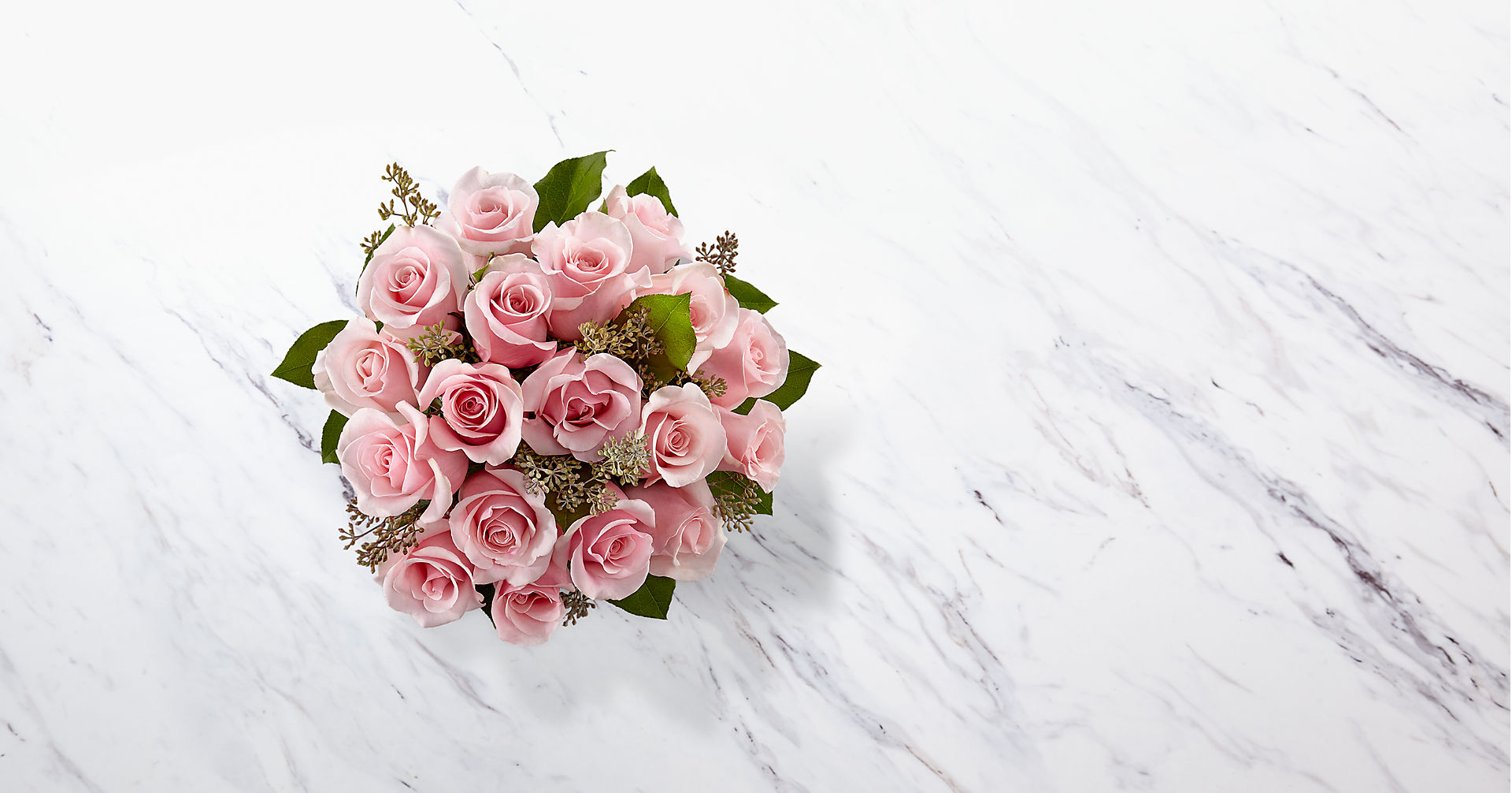 The Long Stem Pink Rose Bouquet - VASE INCLUDED - Image 2 Of 2