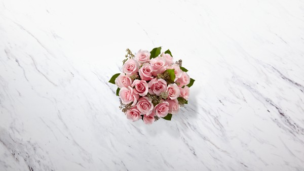 The Long Stem Pink Rose Bouquet - Thumbnail 2 Of 2
