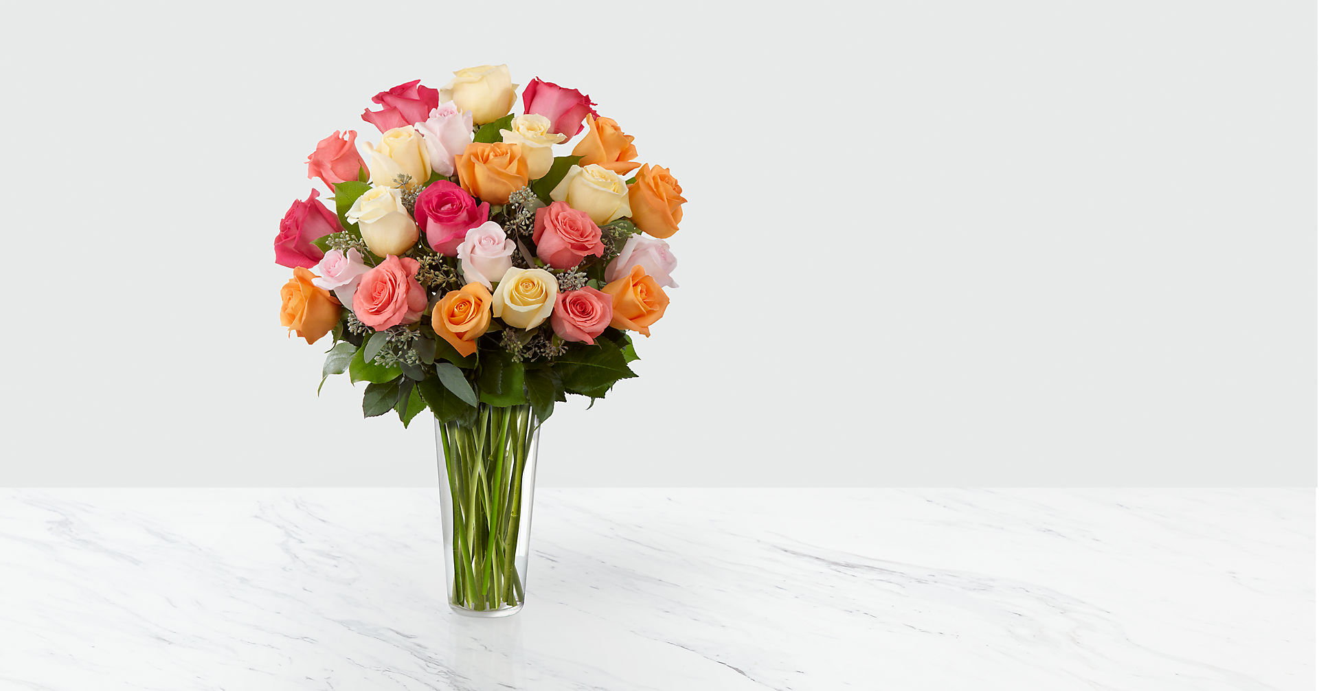 The Graceful Grandeur™ Rose Bouquet - VASE INCLUDED - Image 1 Of 2
