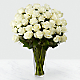 The White Rose Bouquet - 36 Stems - VASE INCLUDED - Thumbnail 1 Of 2