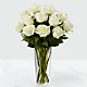 The White Rose Bouquet - VASE INCLUDED - Thumbnail 1 Of 2