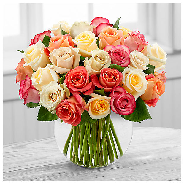 The Sundance™ Rose Bouquet - VASE INCLUDED