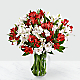 75 Blooms of Candy Cane Peruvian Lilies - Thumbnail 2 Of 2