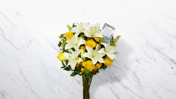 DaySpring® Prayers for Peace Sympathy Bouquet -Yellow & White - Image 1 Of 4