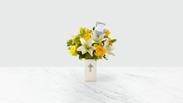DaySpring® Prayers for Peace Sympathy Bouquet -Yellow & White - Thumbnail 2 Of 4