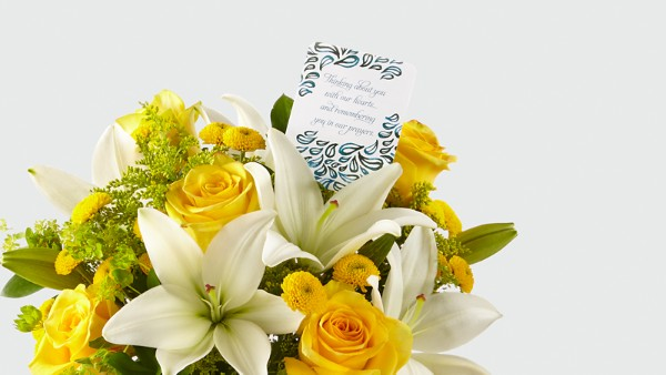 DaySpring® Prayers for Peace Sympathy Bouquet -Yellow & White - Thumbnail 3 Of 4