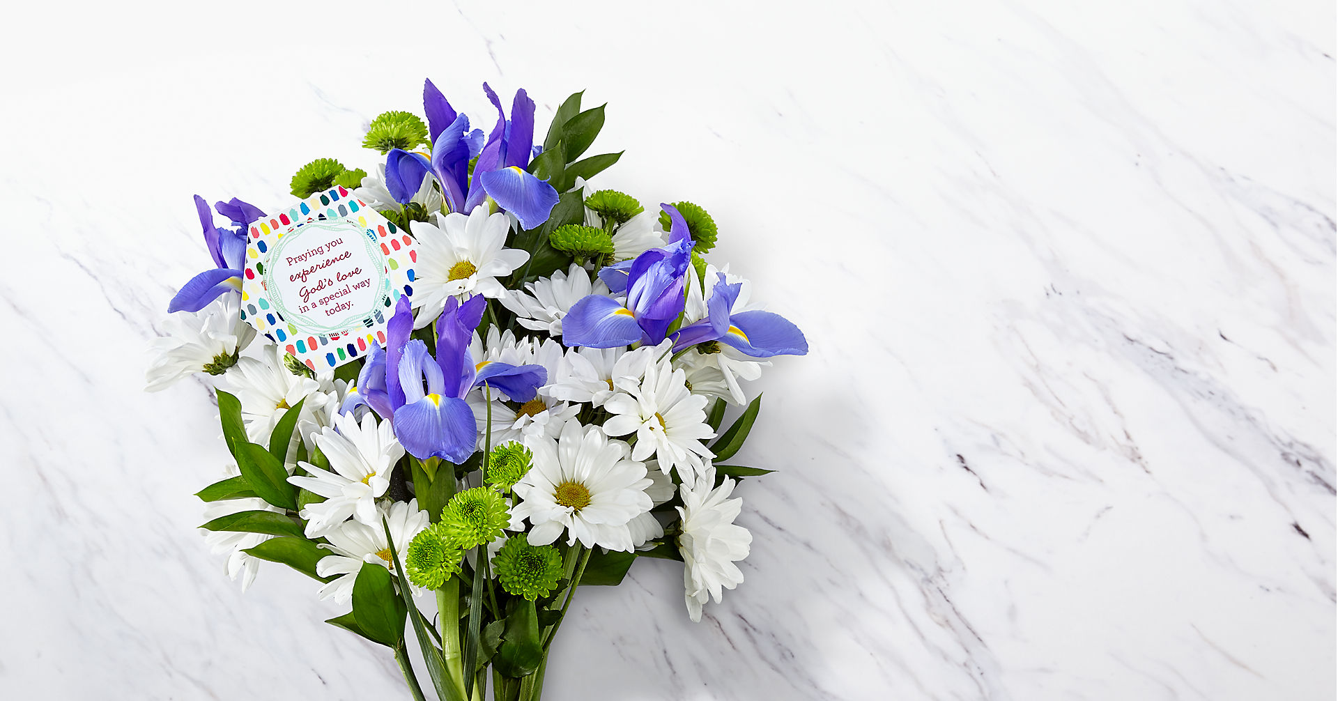 DaySpring® God's Love Bouquet -Blue & White - Image 1 Of 4