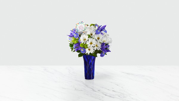DaySpring® God's Love Bouquet -Blue & White - Image 2 Of 4