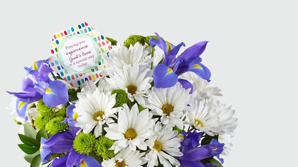 DaySpring® God's Love Bouquet -Blue & White - Image 3 Of 4
