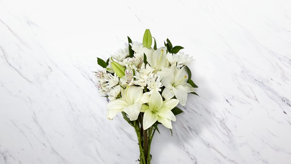 With Peace & Gratitude Bouquet - White