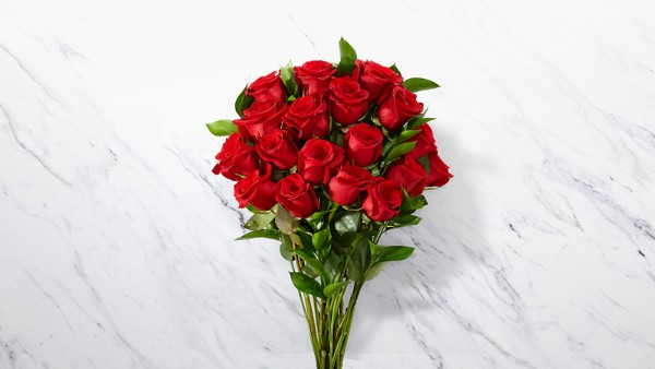 Red 1 Dozen Long Stem Roses - Thumbnail 1 Of 5