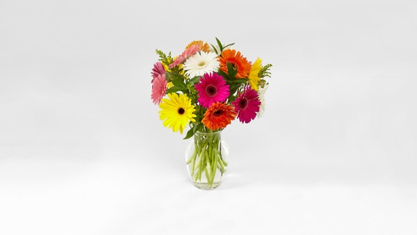 Colorful World Gerbera Daisy Bouquet - Thumbnail 2 Of 4