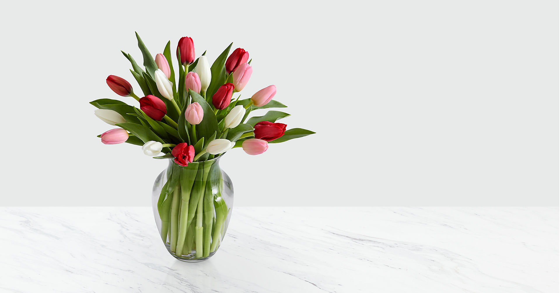 Here in My Heart Valentine Tulip Bouquet VASE INCLUDED - Image 1 Of 2