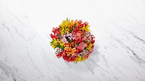 Rainbow Discovery Peruvian Lily Bouquet - Image 2 Of 3