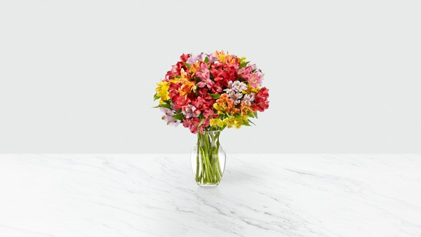 Rainbow Discovery Peruvian Lily Bouquet - Thumbnail 2 Of 4