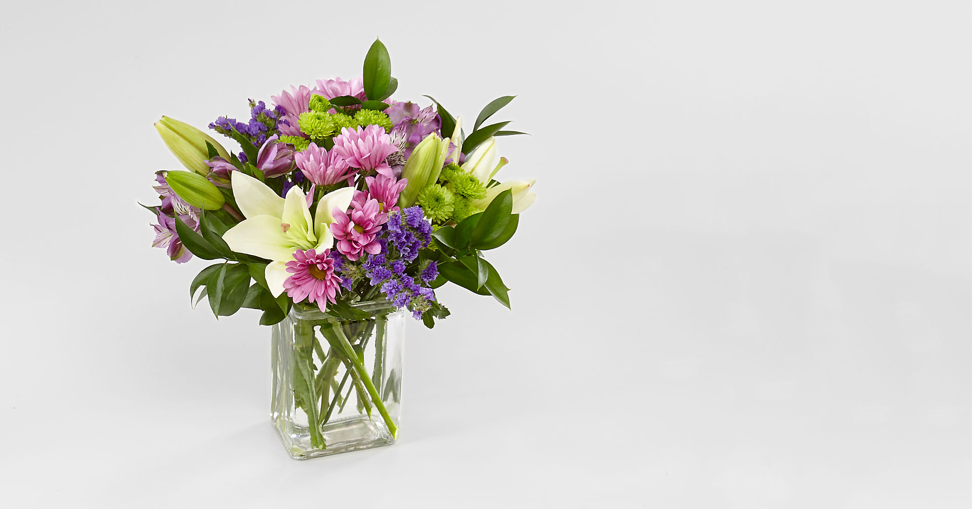 Lavender Fields Mixed Flower Bouquet - Image 2 Of 4