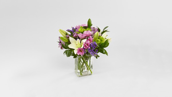 Lavender Fields Mixed Flower Bouquet - VASE INCLUDED - Image 2 Of 4