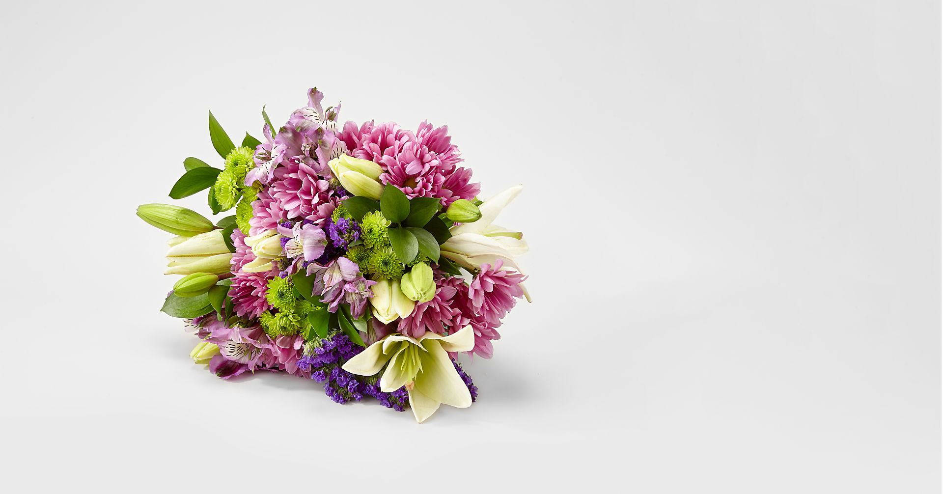 Lavender Fields Mixed Flower Bouquet - VASE INCLUDED - Image 2 Of 5