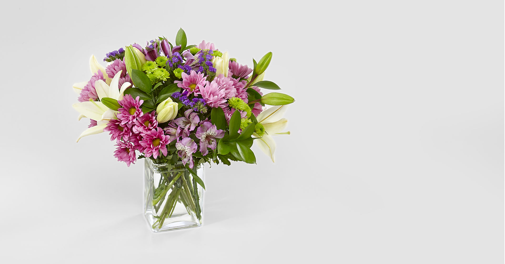 Lavender Fields Mixed Flower Bouquet - VASE INCLUDED - Image 1 Of 5