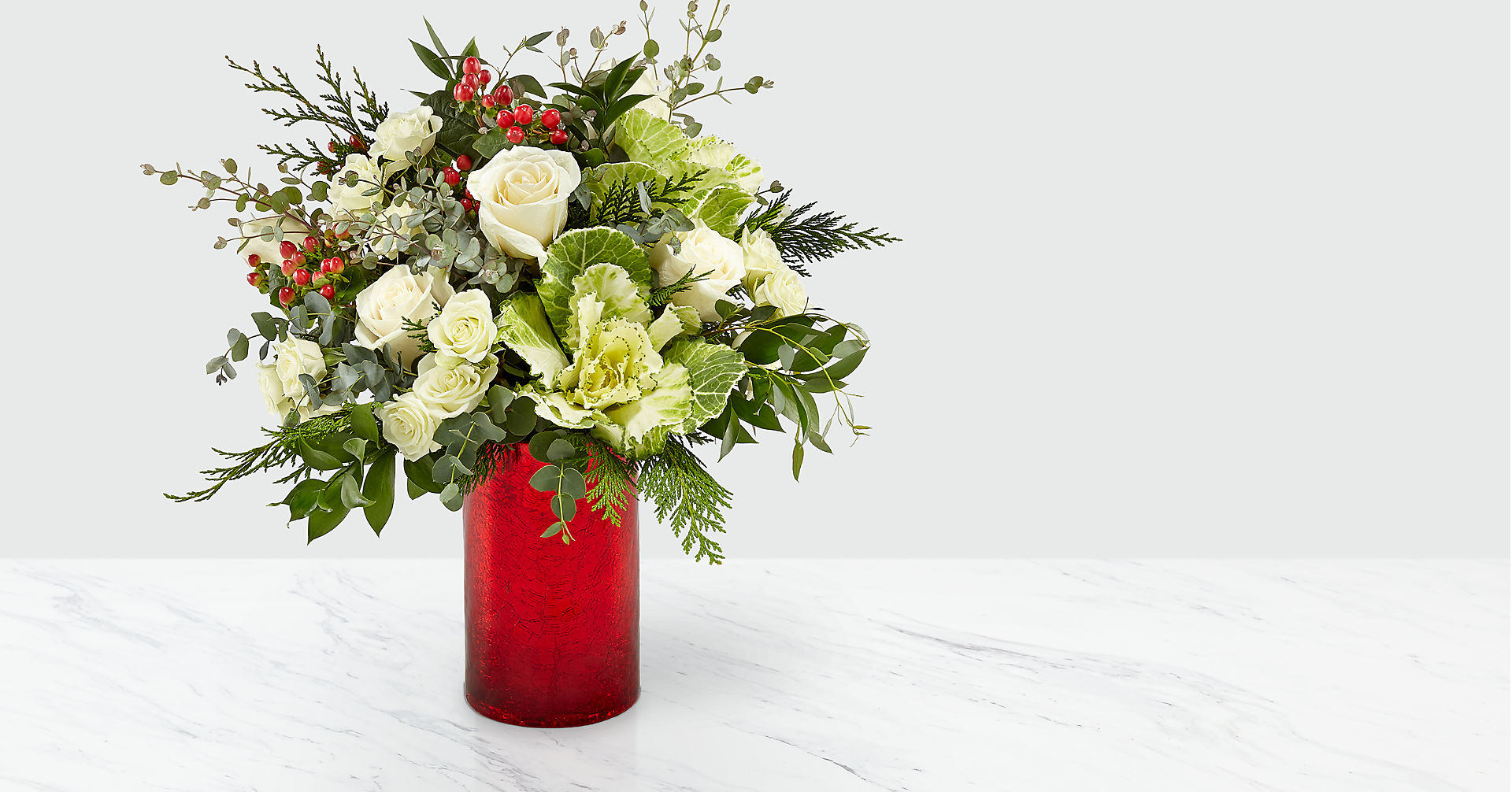 The FTD® Holly & Jolly Bouquet - Image 1 Of 4