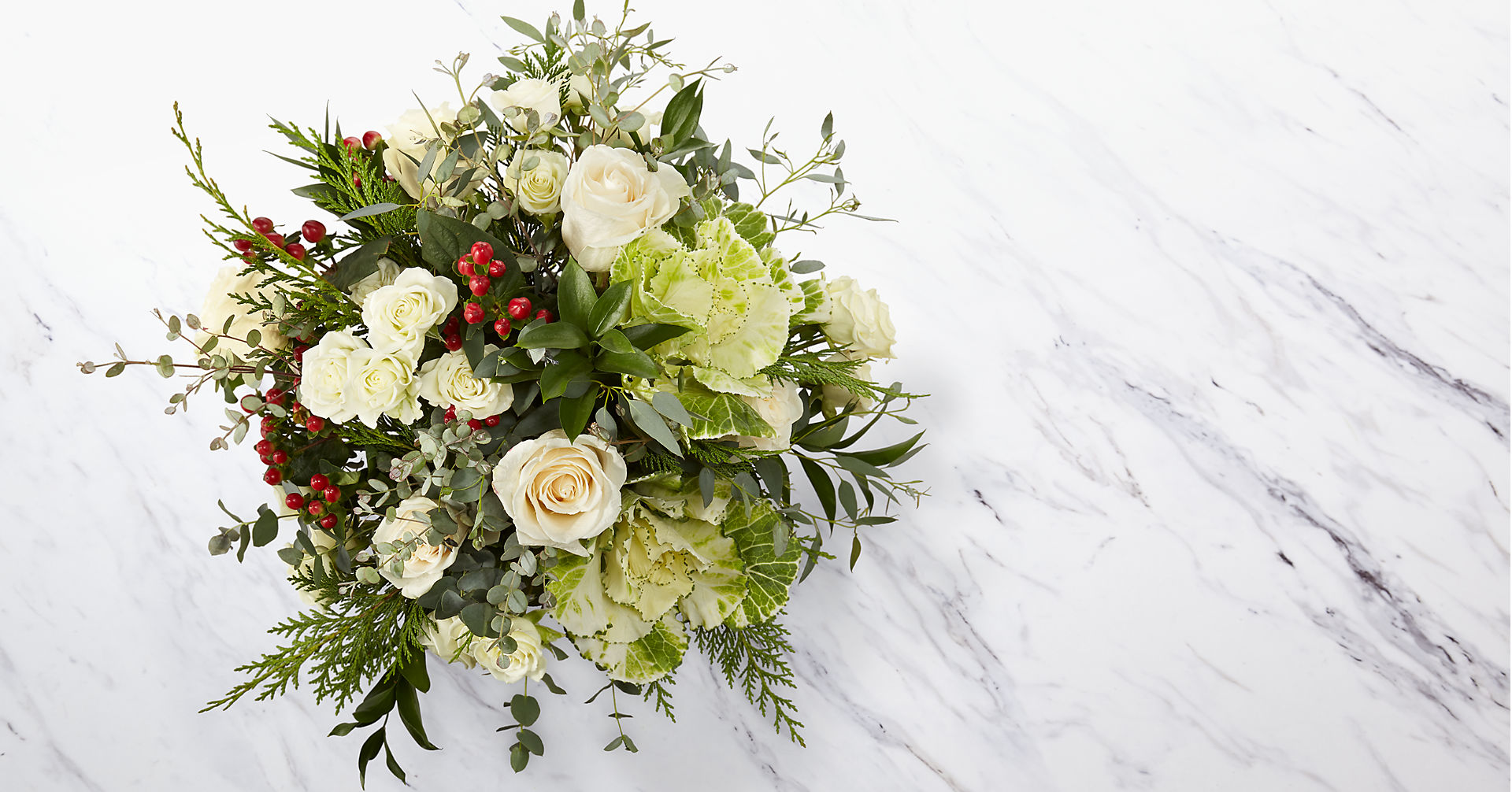 The FTD® Holly & Jolly Bouquet - Image 3 Of 4
