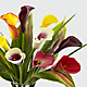 Captured Color Calla Lily Bouquet - 12 stems - VASE INCLUDED - Thumbnail 3 Of 3