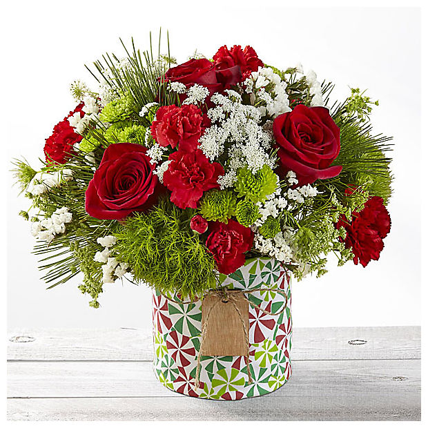 Tis the Season Mixed Holiday Bouquet - VASE INCLUDED - Image 1 Of 2