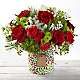 Tis the Season Mixed Holiday Bouquet - VASE INCLUDED - Thumbnail 1 Of 2