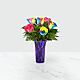 Time to Celebrate Rainbow Rose Bouquet - 6 Stems - VASE INCLUDED - Thumbnail 2 Of 5
