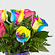 Time to Celebrate Rainbow Rose Bouquet - 6 Stems - VASE INCLUDED - Thumbnail 4 Of 5