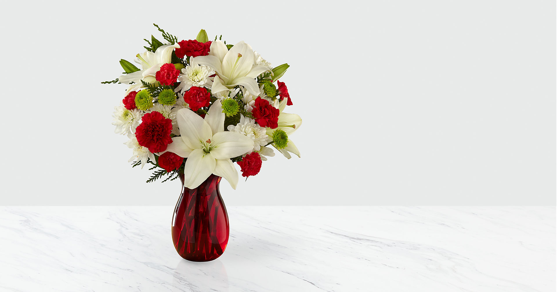 Open Your Heart Holiday Bouquet - VASE INCLUDED - Image 1 Of 2