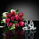 Wings of Love Tulip Bouquet with Baccarat® Crystal Loving Doves - Thumbnail 1 Of 2
