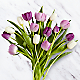 Darling Lavender & White Tulips with Vase - Thumbnail 2 Of 2
