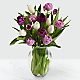 Darling Lavender & White Tulips with Vase - Thumbnail 1 Of 2