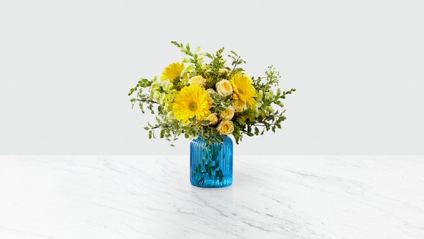 Something Blue™ Bouquet by FTD®- VASE INCLUDED - Image 1 Of 2