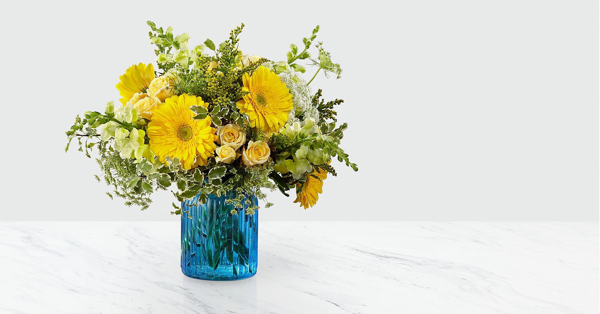 Something Blue™ Bouquet by FTD® - VASE INCLUDED - Image 1 Of 3
