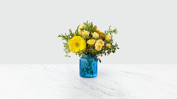 Something Blue™ Bouquet by FTD® - VASE INCLUDED - Image 1 Of 2